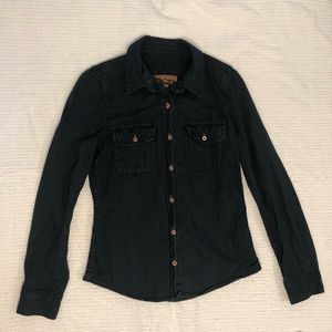 Quiksilver Dark Wash Denim Shirt